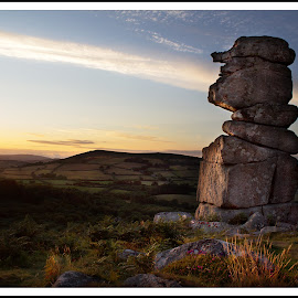 The Bowerman's Nose by Martin Scaife - Landscapes Mountains & Hills ( outcrop, sunset, dartmoor, bowerman's nose, granite )