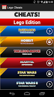 Screenshot of Cheats! Lego Edition