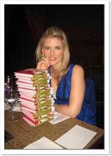 Meghan signing books