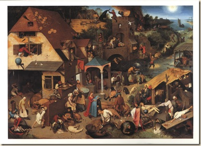 Pieter Bruegel the Elder - The Netherlandish Proverbs - 1559-1600x1200