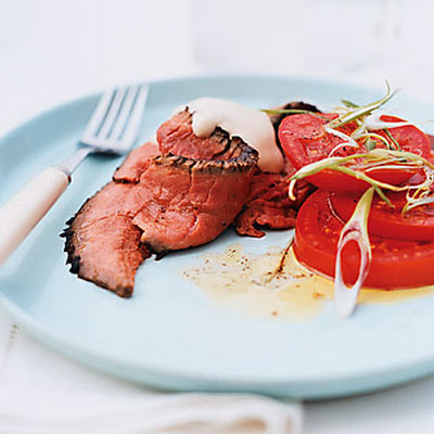 London Broil with Soy Citrus Mayonnaise