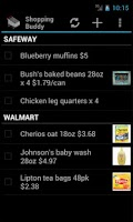 Screenshot of Shopping Buddy (Shared List)