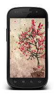 Screenshot of Galaxy S4 Leaf Lonely Tree LWP