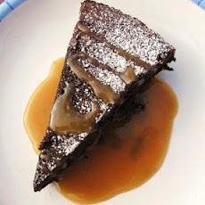 Flourless Chocolate Cake with Caramel Sauce