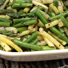 Asparagus, Green Bean, and Wax Bean Salad Recipe