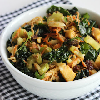Kale, Almond, and Shredded Veggie Salad