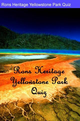 Rons Yellowstone Park Quiz