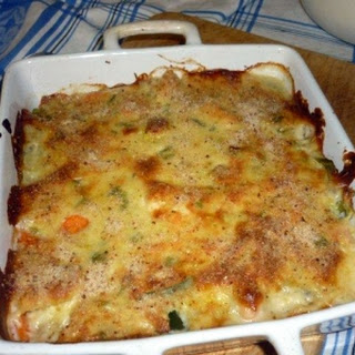 Vegetable Bake with Cheese Sauce