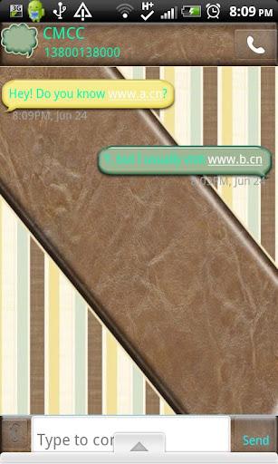 GO SMS THEME StripedMale