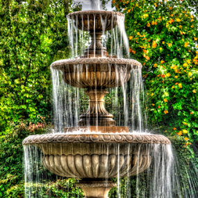 Painted Fountain by Andy Chow - City,  Street & Park  Fountains ( hyde park, fountain )