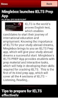 Screenshot of IELTS PREP
