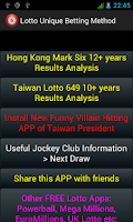 Screenshot of Unique Lotto Betting Method