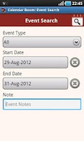 Screenshot of Calendar Boom-Events Reminders
