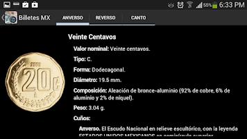 Screenshot of Billetes Monedas MX