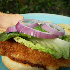 Crispy Fish or Chicken Sandwich With Spicy Mayonnaise