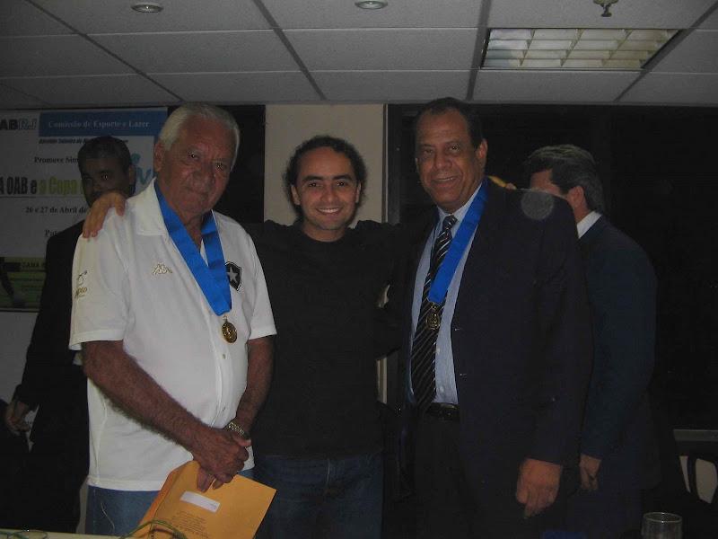 Saulo, Nilton Santos e Carlos Alberto Torres