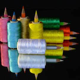 Pencil-thread combo # 35 by Asif Bora - Artistic Objects Other Objects