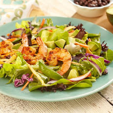 Grilled Shrimp, Snap Pea and Spring Mix Salad with Southwest Vinaigrette