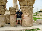 Some scale perspective of the stonework at Temple of Hercules w/journalist Tom Nevens