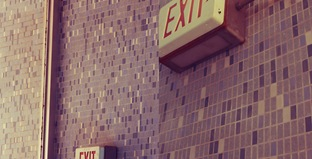 Thrift store exit diptych