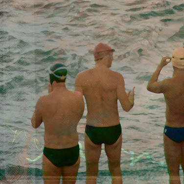 three for a swim