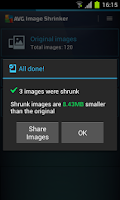 Screenshot of AVG Image Shrink & Share