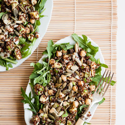 Quinoa Salad with Chickpeas and Avocados