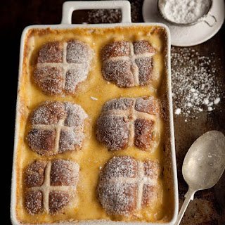 Hot Cross Bun Pudding With Chocolate And Orange