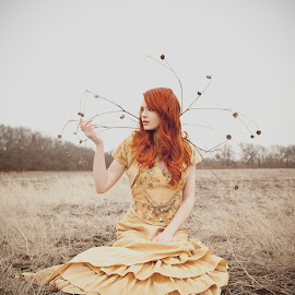 Red Beauty 2 by Leslie Spurlock - People Portraits of Women ( field, woman, outdoor, redhead, photography )