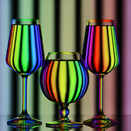 Satrangi #3 by Rakesh Syal - Artistic Objects Glass