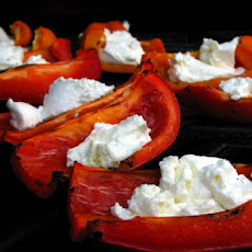 Roasted Marinated Peppers with Goat Cheese