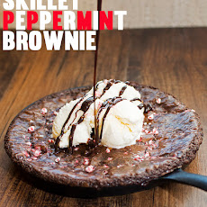 Skillet Peppermint Brownie