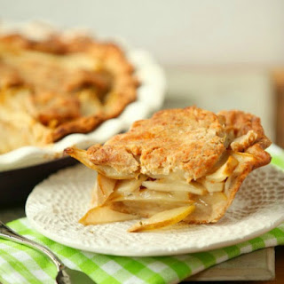 Fresh Pear and Rosemary Pie with Cheddar Crust, Heart Healthy, Low Calorie