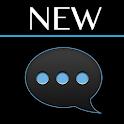 GO SMS Black ICS Theme icon