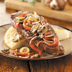 Italian Strip Steaks with Focaccia Recipe