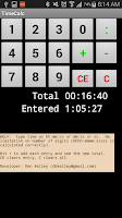 Screenshot of TimeCalc