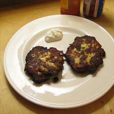 Green Chile and Chorizo Potato Pancakes