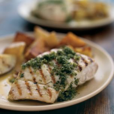 Halibut With Orange-Parsley Butter And Succotash Recipes — Dishmaps