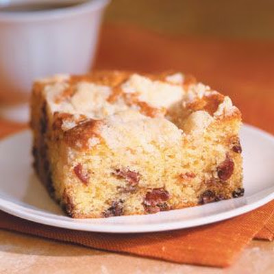 Cranberry-Sour Cream Coffee Cake with Streusel Topping