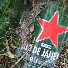 by Crystal N Jose Ayala - Food & Drink Alcohol & Drinks ( brazil, worldcup, cemetarytrash, trash, star, litterati, riodejanerio )