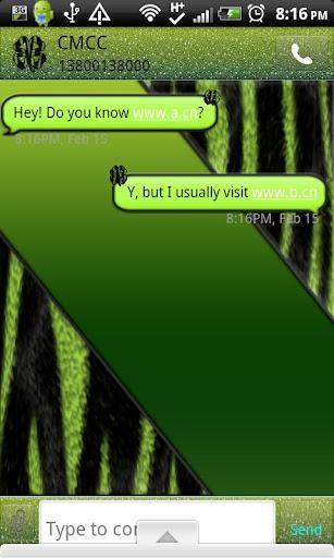 GO SMS THEME StPatricksZebra