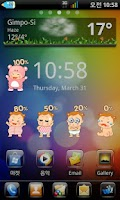 Screenshot of NudiBeBe Battery Widget(Girl)