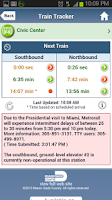 Screenshot of Miami-Dade Transit Tracker