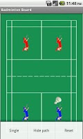 Screenshot of Badminton Tactics Board