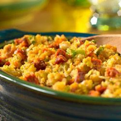 Cornbread Stuffing with Chorizo and Chiles