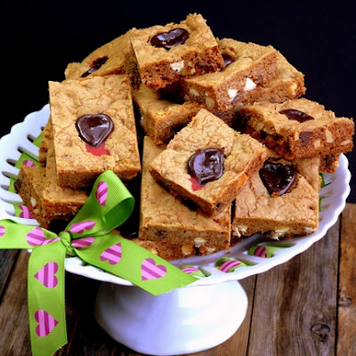 Bleeding Heart Chocolate Chip Bars