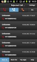 Screenshot of Missed Call Alert