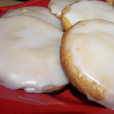 Frosted Cookies With Orange and White Chocolate
