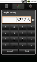 Screenshot of Simple Money