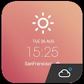 Free Note Memo style weather widget APK for Windows 8